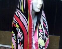 EMILIO PUCCI Luxurious Silk Velvet Long Dramatic Scarf