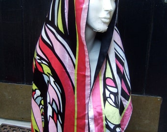 EMILIO PUCCI Luxurious Silk Velvet Long Dramatic Scarf