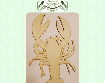 Lobster Wood Cut Out - Laser Cut