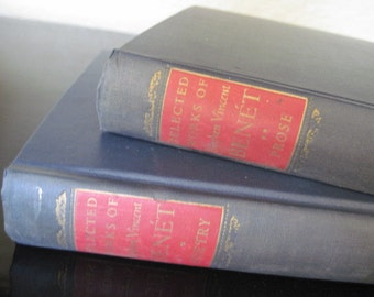 Vintage Set of Stephen Vincent Benet Poetry and Prose