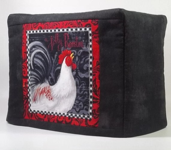 Black Rooster Toaster Cover