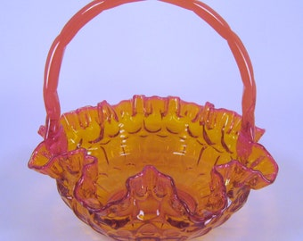 Fenton Thumbprint Basket