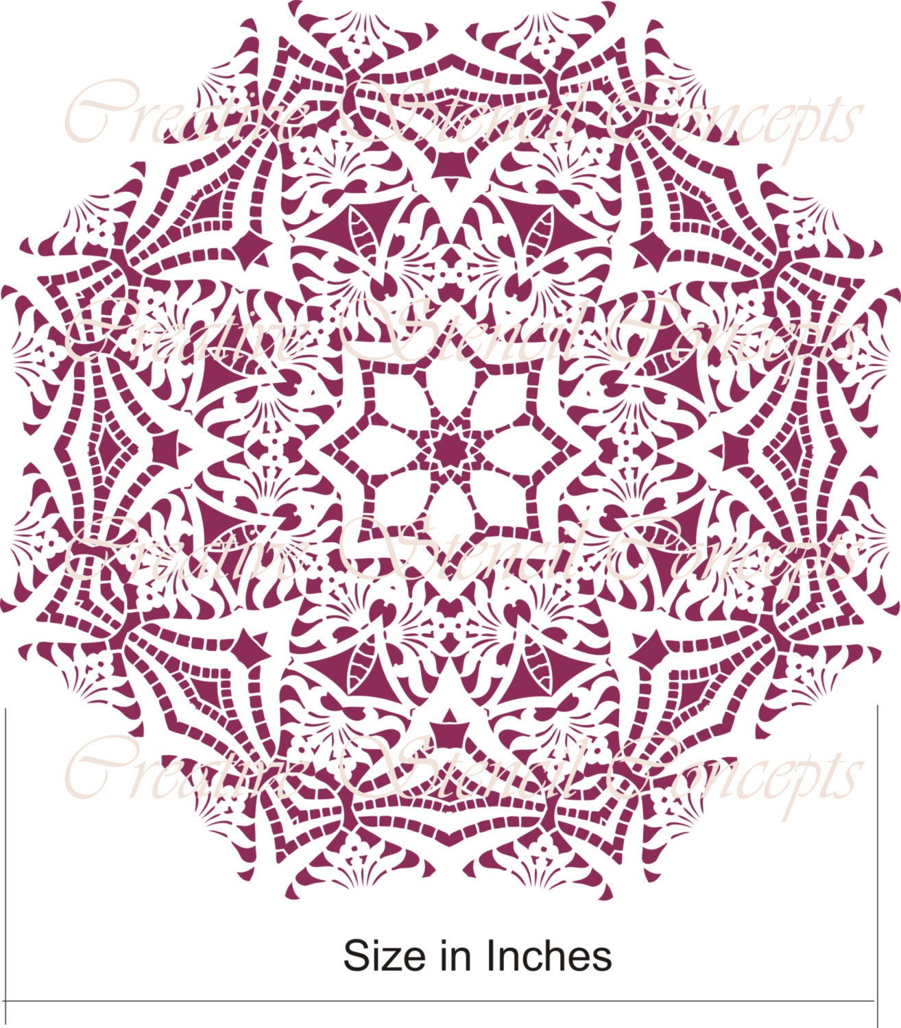 Decorative Mandala Design Stencil Or Ceiling By