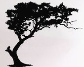 Blowing Tree Wall Decal Vinyl Decals Decor Art Sticker Removable Mural A846