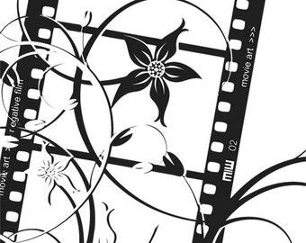 Floral Film Strip - uBer Decals Wall Decal Vinyl Decor Art Sticker Removable Mural Modern A254