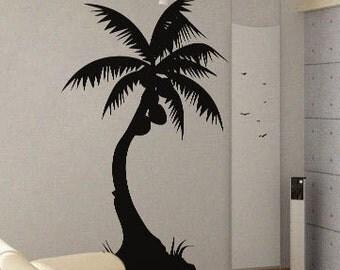 Palm Tree 3 - uBer Decals Wall Decal Vinyl Decor Art Sticker Removable Mural Modern A398