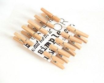10 pcs Wooden mini clothespins