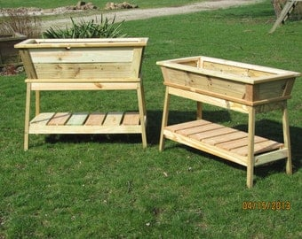 Outdoor Planter,  Planter Box, Wooden Planter, Cedar Planter, Container Garden, Flower Box, Easy Reach Planter, EZ Reach Planter,