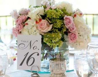 Wedding Table Numbers, Set of 20+