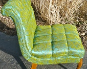 Vintage Chair Upholstered Chair Regency Tufted Armless Chair RESERVED