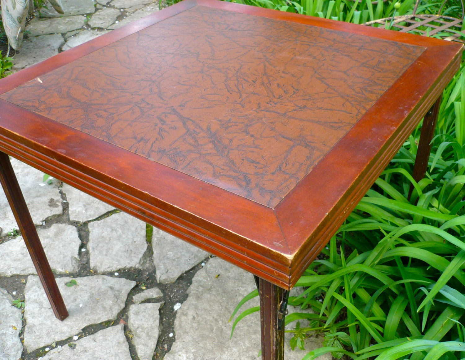 Card Table Ferguson Folding Table Vintage Wood Table Vintage