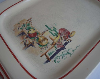 Art Deco Vintage Hacienda Platter by Homer Laughlin