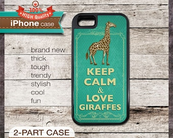 Keep Calm & Love Giraffes - iPhone 6, 6+, 5 5S, 5C, 4 4S, Samsung Galaxy S3, S4