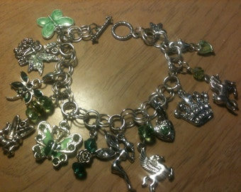 Once Upon a Time Fairy Tale Charm Bracelet Green