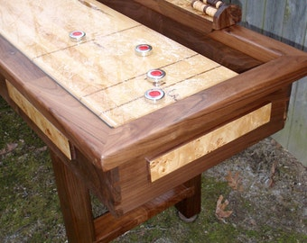 Game Table in Walnut and Burl