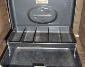 Vintage Cash / Money Box Union Steel Chest Corp. Metal Storage