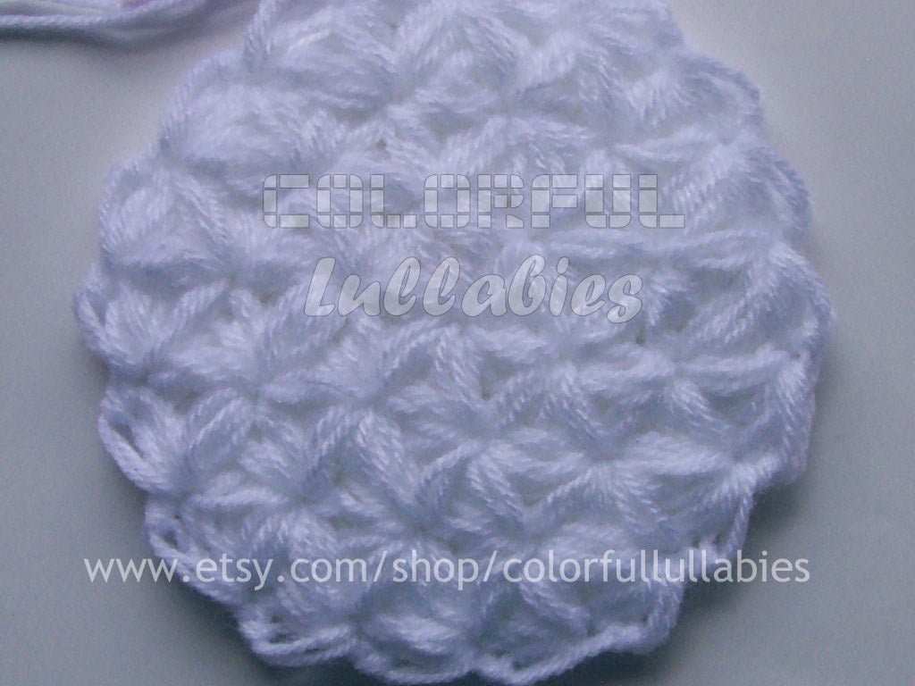 Crochet Jasmine Stitch In The Round : Puff 6-Petal Jasmine Stitch No 4. Pdf crochet by ColorfulLullabies