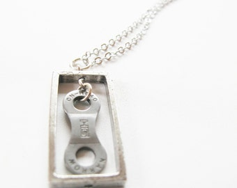 Bicycle Chain Link Necklace - Recycled Jewelry - eco gift - handmade - bike - reused - repurposed