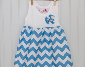 23 CHEVRON COLORS  - girls chevron tank dress - sizes 6mo- 10