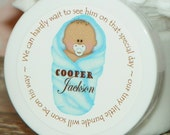 Baby Shower Favors - Personalized Whipped Body Butter - Snug as a Bug Baby Shower Favors (Dark Skin Boy)