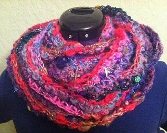 PDF PATTERN - For easy hand spun scarf - crochet