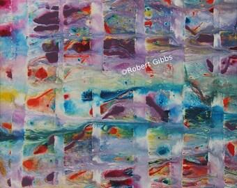 Mosaic Abstract Painting, Original Artwork, Colorful Art, Contemporary Wall Art, Rainbow Colors