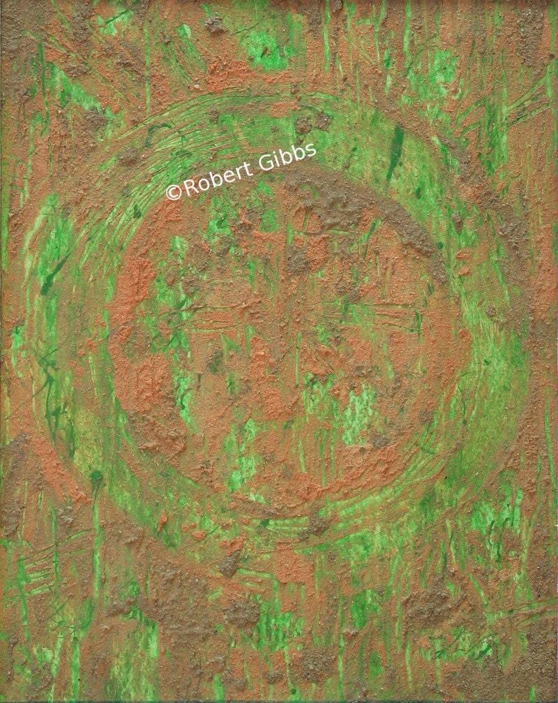 Original Enso Zen Painting Throw Pillows: Original Painting Abstract Art Earth Enso Zen By