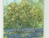ACEO - The Bluebell Wood - Original Watercolour  Painting