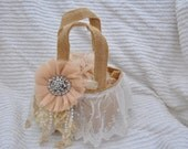 Vintage Inspired Flower Girl Basket