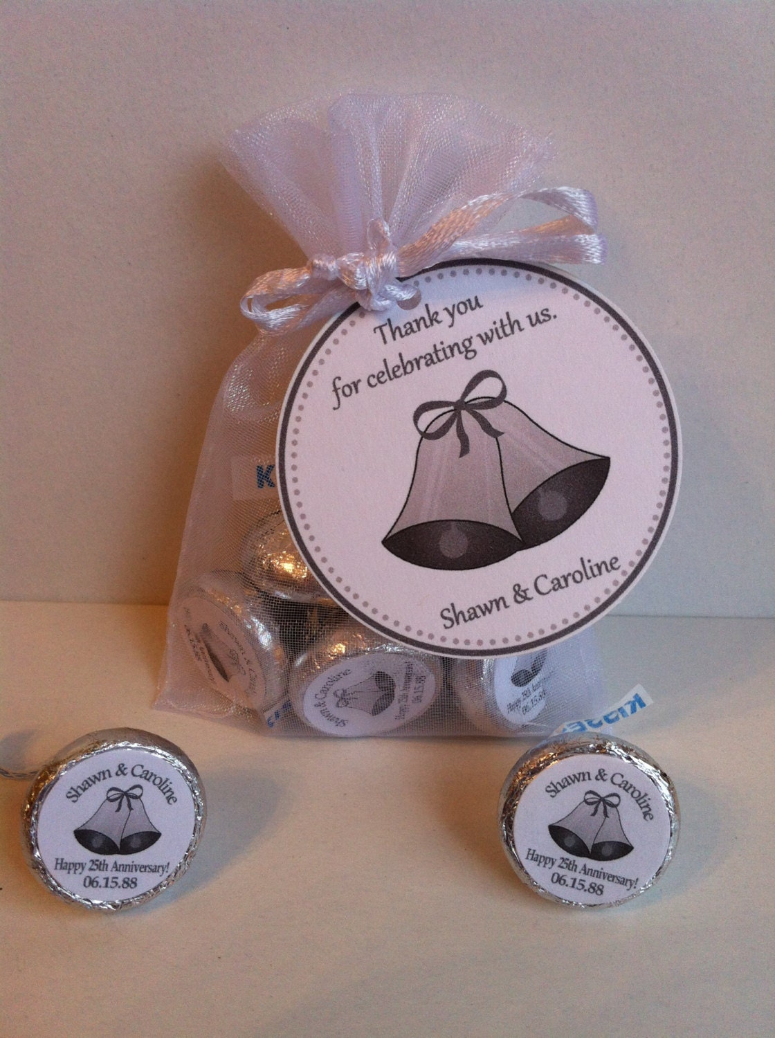 25th anniversary favor bag set With favors for 25th wedding anniversary