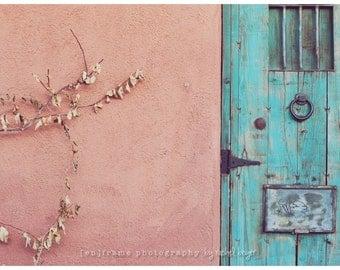 Vintage Southwest Vibe, Door Photograph, Autumn Desert The Lost Barrio Tucson, Arizona 8x12 Vintage Style Photograph
