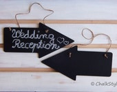 2 Large CHALKBOARD Arrow Signs Wedding Decor Reusable Chalk Boards Rustic Wedding Decor Photo Props