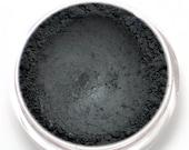 """Matte Black Eyeshadow - """"Nero"""" - Opaque Black Vegan Mineral Eyeshadow Net Wt 2g Mineral Makeup Eye Color Pigment Eyeliner"""