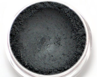 "Matte Black Eyeshadow - ""Nero"" - Opaque Black Vegan Mineral Eyeshadow Net Wt 2g Mineral Makeup Eye Color Pigment Eyeliner"
