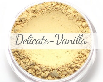Vegan Mineral Foundation Sample - Delicate Formula VANILLA - very light/pale shade with a neutral undertone