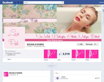 Custom Facebook Cover and Profile Picture Set - Design Package