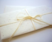 ivory paper  money envelope,handmade straw paper, wedding envelope, anniversary envelope