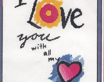 "Clearance - Anne Brinkley's  ""Love Notes - 2""  Counted Cross Stitch Kit"