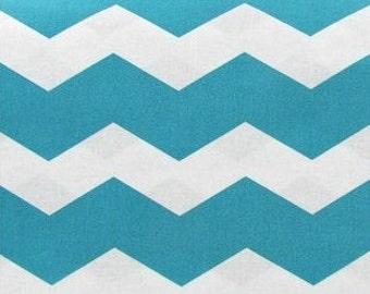 Teal Chevron Fabric - 1 YARD