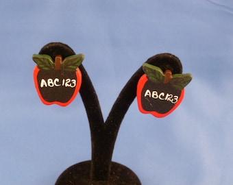 Teachers Apple Clip earrings.
