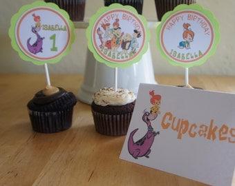 Pebbles Flintstone Candy/Dessert Table Labels