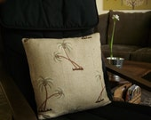 """Palm Tree Natural Pillow Cover (18"""" x 18"""")"""