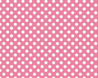 In stock now-Small Cotton Dots in Hot Pink-by Riley Blake- 1 yard