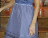 DRESS sale   Semi-formal lavender square neck one of a kind eco-fashion dress.