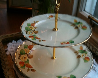 Bone China 2 tier cake stand