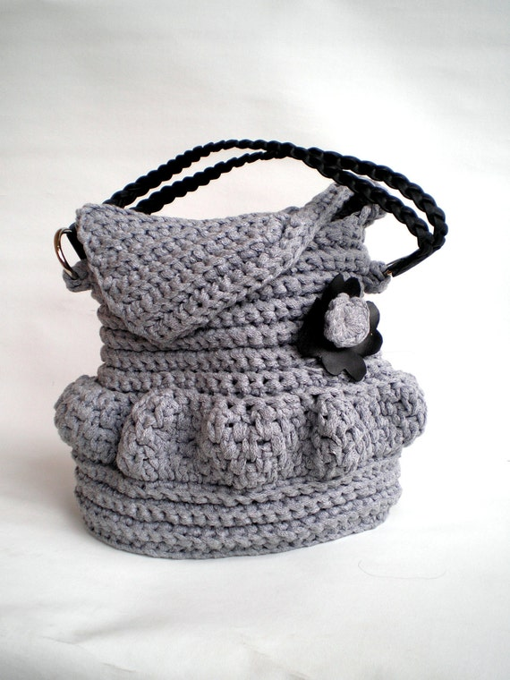 Crochet Purse, Handmade OOAK crochet Bag, fall fashion, Shoulder Bag ...