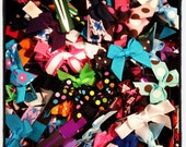 Lot of 100 Itty Bitty Bows...Hairbows...Girls Hairbows...Baby/Infant Hairbows...Party Favors...Hairclips