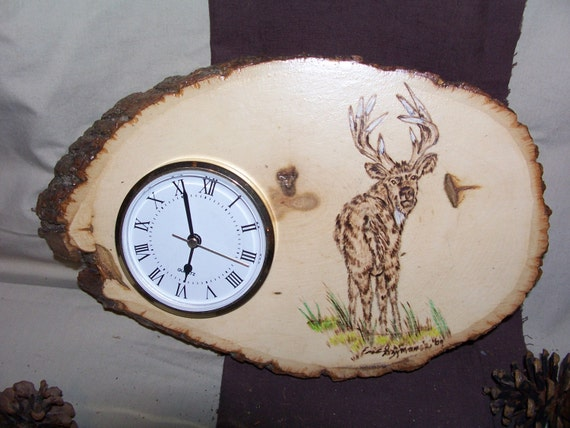 Wedding Gift Clock: Rustic Clock/ Wildlife Art/ Clocks/ Wedding Gifts/ Wedding