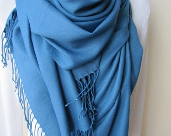 Pashmina shawl wrap scarf blue scarves and wraps shawl -Pashmina, Turkish scarf, Woman Scarf, Women's scarves, 2017 fashion trendy color