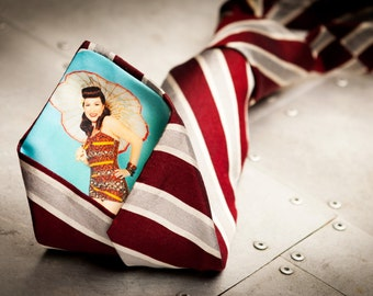 Personalized Peek-a-Boo Tie with YOUR photo hidden inside.